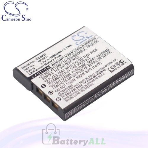 CS Battery for Sony Cyber-Shot DSC-W220/B / DSC-W230/B Battery 1000mah CA-BG1