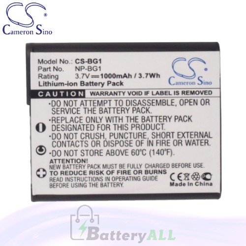 CS Battery for Sony Cyber-Shot DSC-W130/P / DSC-W290/T Battery 1000mah CA-BG1
