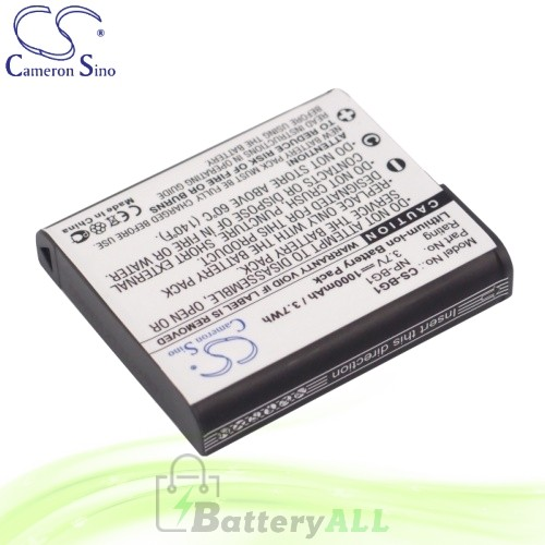 CS Battery for Sony Cyber-Shot DSC-WX1B / DSC-WX1N / DSC-WX10N Battery 1000mah CA-BG1