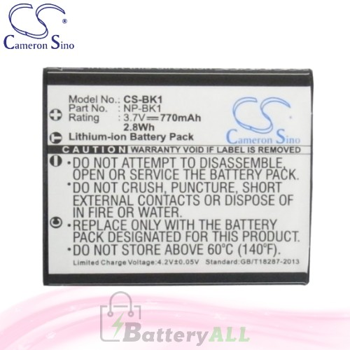 CS Battery for Sony Cyber-shot DSC-S980S / DSC-W190/B / DSC-W180 Battery 770mah CA-BK1