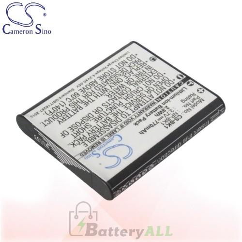 CS Battery for Sony Cyber-shot DSC-W190B / DSC-W190S / DSC-W190R Battery 770mah CA-BK1