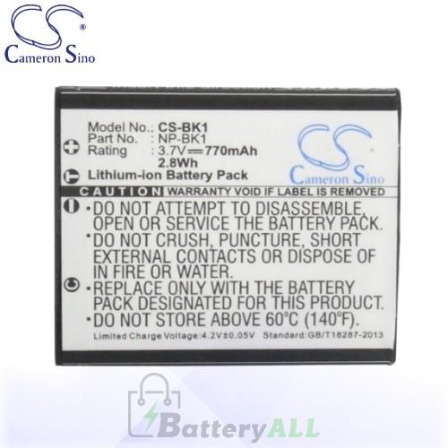 CS Battery for Sony Cyber-shot DSC-S950S / DSC-S980 / DSC-W190/R Battery 770mah CA-BK1