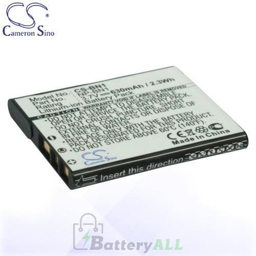 CS Battery for Sony NP-BN / NP-BN1 / SSony Cyber-shot DSC-J10 Battery 630mah CA-BN1