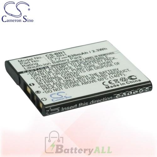 CS Battery for Sony Cyber-shot DSC-TX5S / DSC-TX7/S / DSC-TX7C Battery 630mah CA-BN1