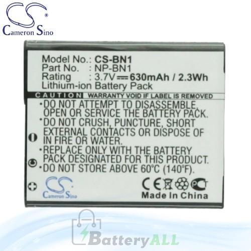 CS Battery for Sony Cyber-shot DSC-W530L / DSC-W530P / DSC-W560L Battery 630mah CA-BN1
