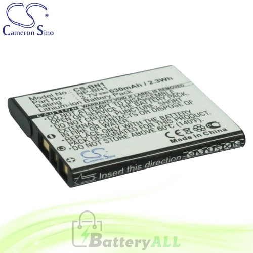 CS Battery for Sony Cyber-shot DSC-W610L / DSC-W610P / DSC-W610S Battery 630mah CA-BN1