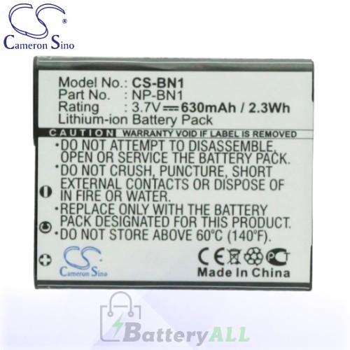 CS Battery for Sony Cyber-shot DSC-T110V / DSC-T99 / DSC-T99B Battery 630mah CA-BN1