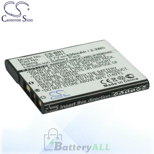 CS Battery for Sony Cyber-shot DSC-W670 / DSC-W690 / DSC-W690B Battery 630mah CA-BN1