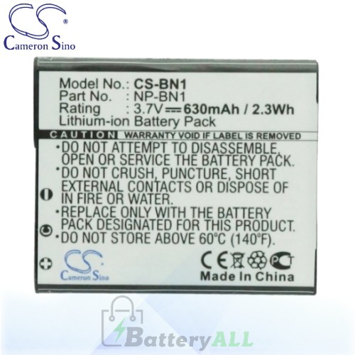 CS Battery for Sony Cyber-shot DSC-WX9 / DSC-WX9B / DSC-WX9B Battery 630mah CA-BN1