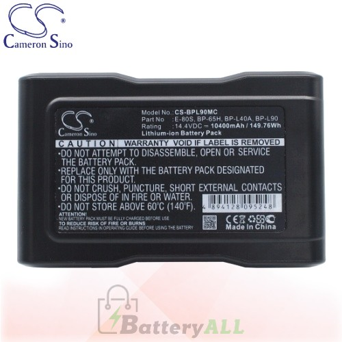 CS Battery for Sony BVM-D9H5U (Broadcast Monitors) Battery 10400mah CA-BPL90MC