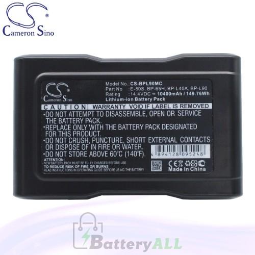 CS Battery for Sony DSR-70AP (Portable Editing Recoder) Battery 10400mah CA-BPL90MC