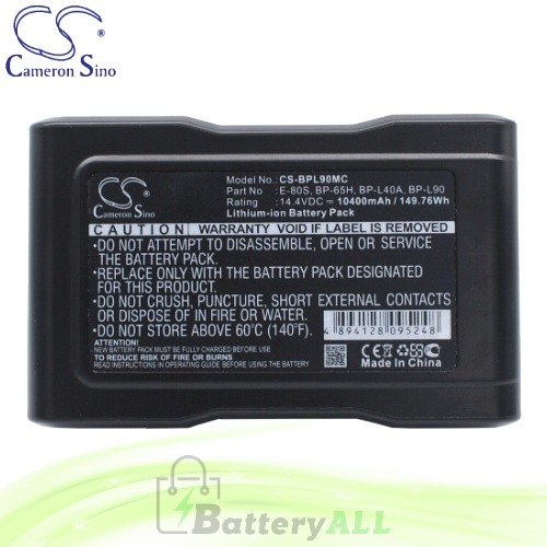 CS Battery for Sony DVW-970 / DVW-970P / DVW-9WS / DXC-D35 Battery 10400mah CA-BPL90MC