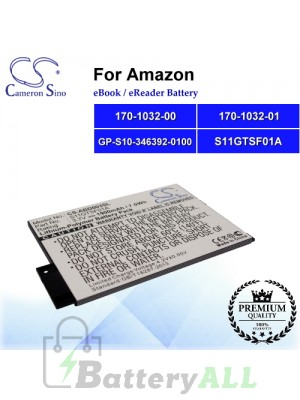 CS-ABD003SL For Amazon Ebook Battery Model 170-1032-00 / 170-1032-01 / GP-S10-346392-0100 / S11GTSF01A