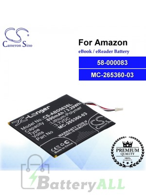 CS-ABD063SL For Amazon Ebook Battery Model 58-000083 / 58-000151 / MC-265360-03