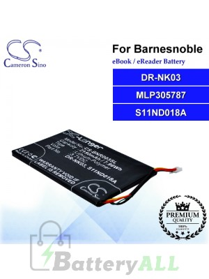 CS-BNR003SL For Barnes & Noble Ebook Battery Model DR-NK03 / MLP305787 / S11ND018A