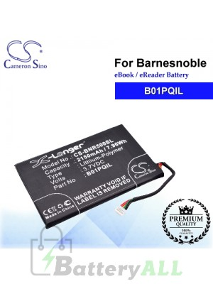 CS-BNR500SL For Barnes & Noble Ebook Battery Model B01PQIL