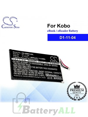 CS-KBM114SL For Kobo Ebook Battery Model D1-11-04