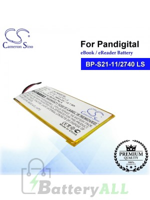 CS-PNR007SL For Pandigital Ebook Battery Model BP-S21-11/2740 LS