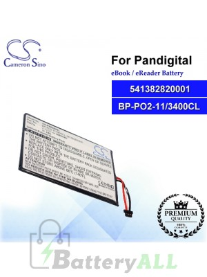 CS-PNR009SL For Pandigital Ebook Battery Model 541382820001 / BP-PO2-11/3400CL