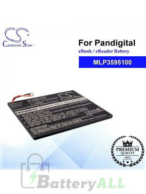 CS-PNR740SL For Pandigital Ebook Battery Model MLP3595100