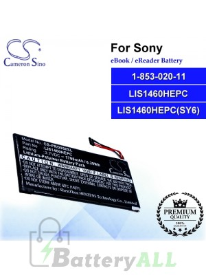 CS-PRD950SL For Sony Ebook Battery Model 1-853-020-11 / LIS1460HEPC / LIS1460HEPC(SY6)
