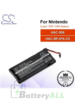 CS-NTS015SL For Nintendo Game PSP NDS Battery Model HAC-006 / HAC-BPJPA-C0