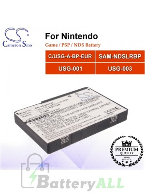 CS-USG003SL For Nintendo Game PSP NDS Battery Model C/USG-A-BP-EUR / SAM-NDSLRBP / USG-001 / USG-003