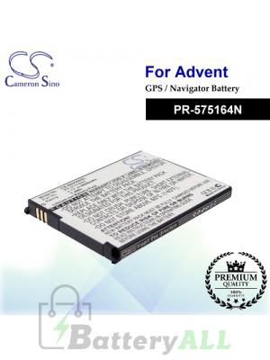 CS-ADV350SL For Advent GPS Battery Model PR-575164N