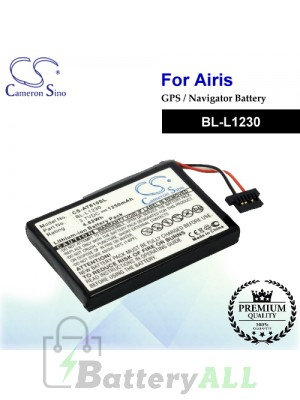 CS-AT610SL For Airis GPS Battery Model BL-L1230