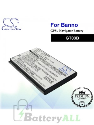 CS-NK5CML For BANNO GPS Battery Fit Model GT03B
