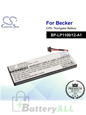 CS-BKE792SL For Becker GPS Battery Model BP-LP1100/12-A1