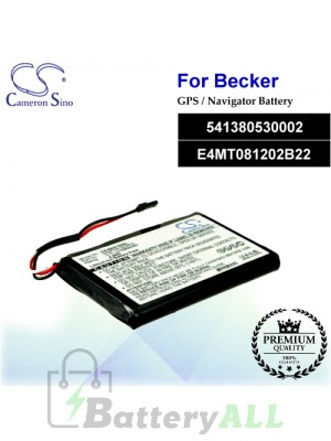 CS-BKE798SL For Becker GPS Battery Model 541380530002 / E4MT081202B22