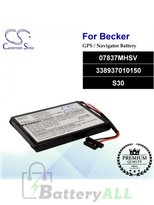 CS-BKZ201SL For Becker GPS Battery Model 07837MHSV / 338937010150 / S30