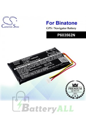 CS-BTZ430SL For Binatone GPS Battery Model P603562N