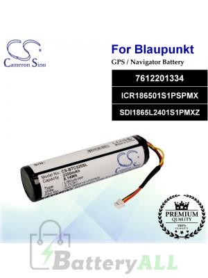 CS-BTC520SL For Blaupunkt GPS Battery Model 7612201334 / ICR186501S1PSPMX / SDI1865L2401S1PMXZ