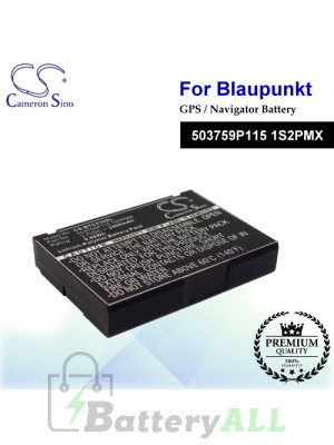 CS-BTC530SL For Blaupunkt GPS Battery Model 503759P115 1S2PMX