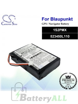 CS-BTP700SL For Blaupunkt GPS Battery Model 1S2PMX / 523450L110