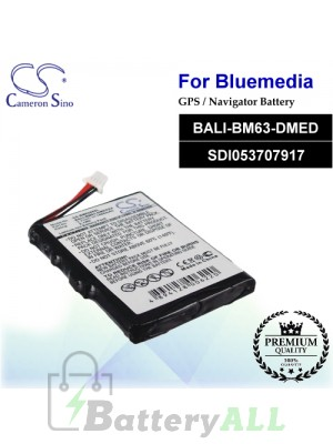 CS-BM6380SL For BlueMedia GPS Battery Model BALI-BM63-DMED / SDI053707917