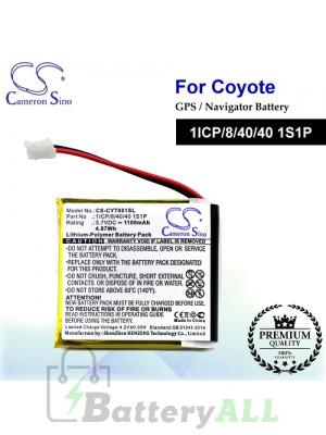 CS-CYT001SL For Coyote GPS Battery Model 1ICP/8/40/40 1S1P