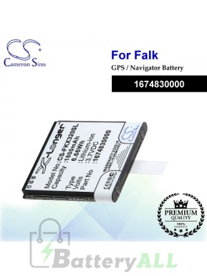 CS-FKX320SL For Falk GPS Battery Model 1674830000