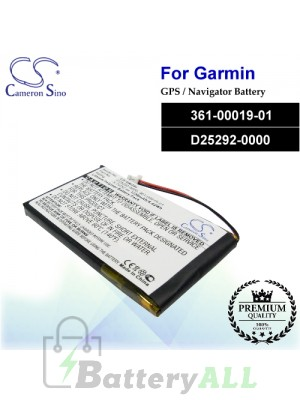 CS-GM3SL For Garmin GPS Battery Model 361-00019-01 / D25292-0000