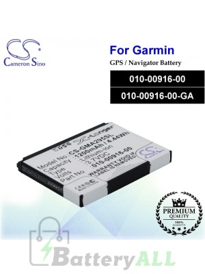 CS-GMA295SL For Garmin GPS Battery Model 010-00916-00 / 010-00916-00-GA