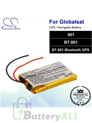 CS-BT001SL For Globalsat GPS Battery Fit Model 001 / BT-001 / BT-001 Bluetooth GPS