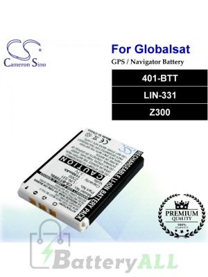 CS-BT359SL For Globalsat GPS Battery Model 401-BTT / LIN-331 / Z300