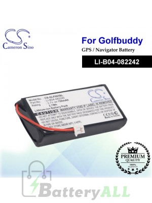 CS-GLF003SL For Golf Buddy GPS Battery Model LI-B04-082242