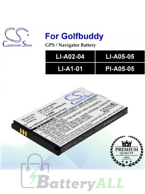 CS-GLF400SL For Golf Buddy GPS Battery Model LI-A02-04 / LI-A05-05 / LI-A1-01 / PI-A05-05