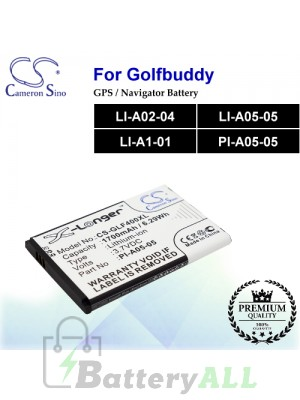 CS-GLF400XL For Golf Buddy GPS Battery Model LI-A02-04 / LI-A05-05 / LI-A1-01 / PI-A05-05