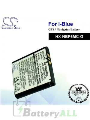CS-ITB820SL For i-Blue GPS Battery Model HX-NBP6MC-G