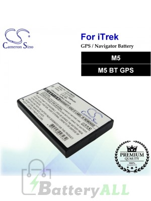 CS-ITM5SL For i.Trek GPS Battery Fit Model M5 / M5 BT GPS