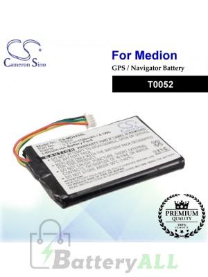 CS-MD425SL For Medion GPS Battery Model T0052
